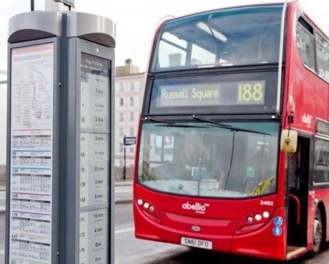 Paradas Solares en Autobuses de Londres